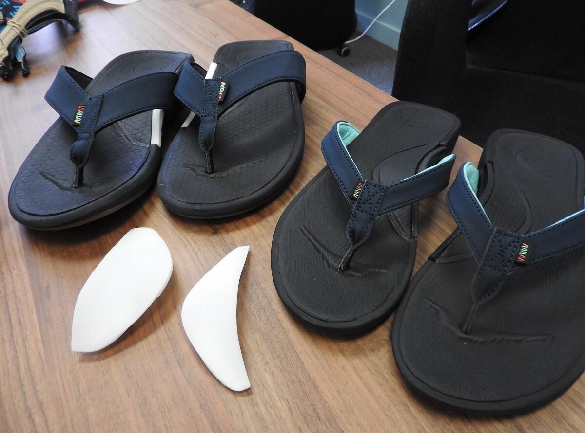 Wiivv flip-flops.