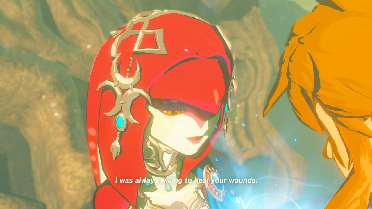 Mipha and Link.