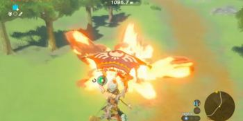 Here's a Zelda player soaring over most of Hyrule without ever touching the ground