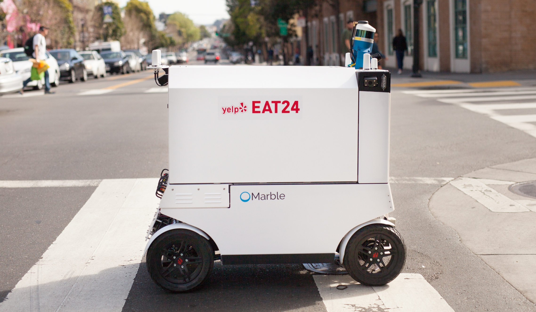 San Francisco Company Uses Food Delivery Robots