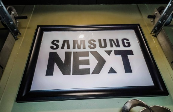 Samsung NEXT signage hanging at the Fast Company Grill during South by Southwest interactive 2017/