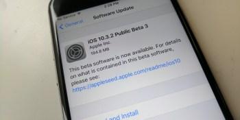 Apple releases iOS 10.3.2 public beta 3