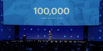 Facebook Messenger hits 100,000 bots