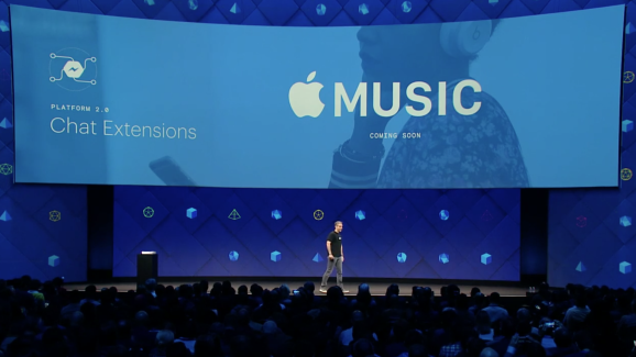 Apple Music previously came to Messenger.