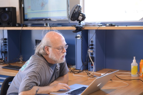 James Gosling using computer