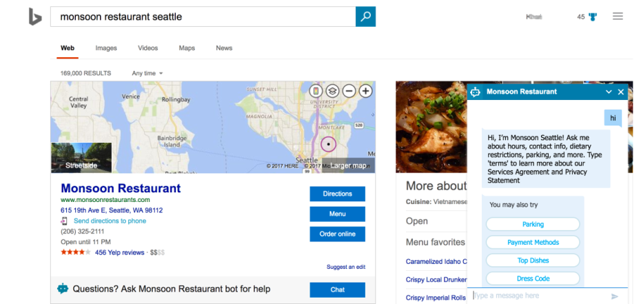 Microsoft is bringing bots to Bing search results