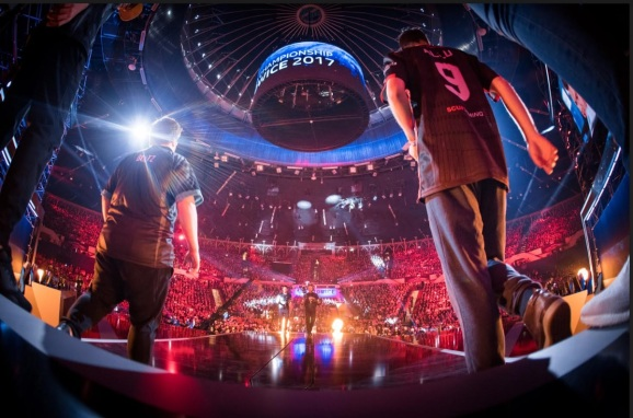 The ESL esports finals for Counter-Strike: Global Offensive in Katowice, Poland, in 2017.