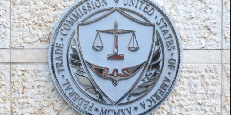 Seal of the Federal Trade Commission in downtown Washington, D.C.