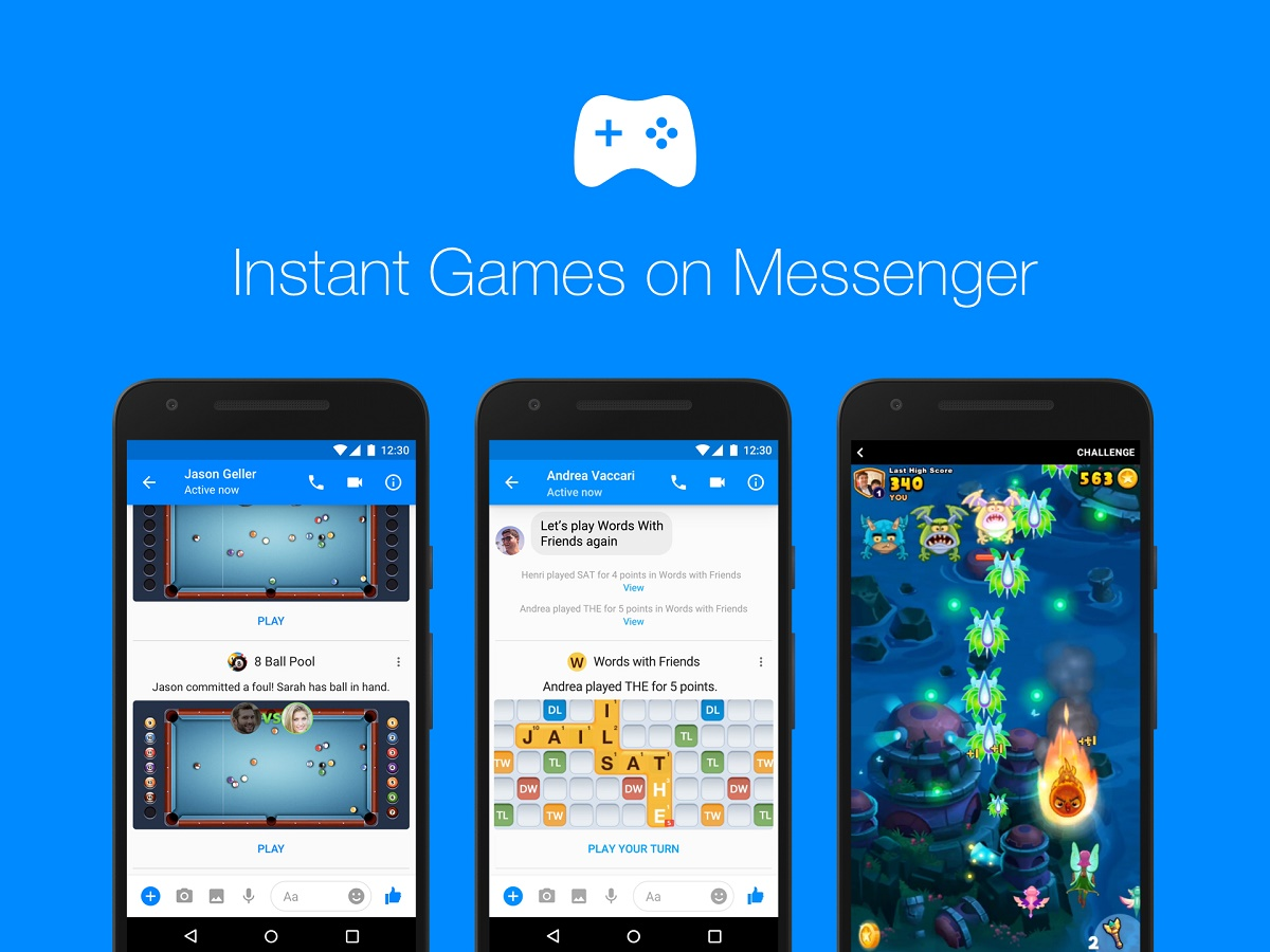 Instant Games for Facebook Messenger is now available