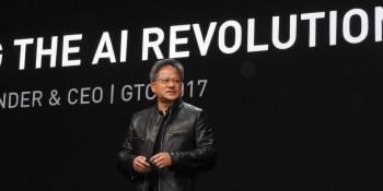 Jensen Huang, CEO of Nvidia, at GPU Tech event.