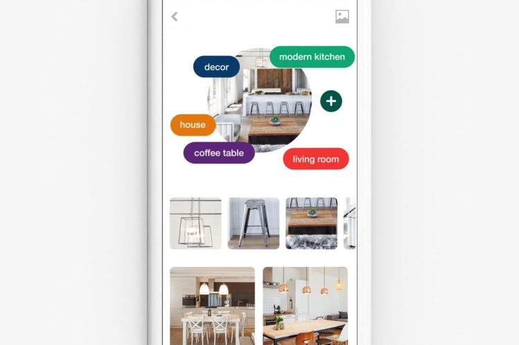 Visual guides in Pinterest Lens.