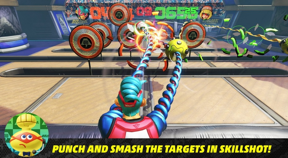 nintendo switch how to play arms the demo