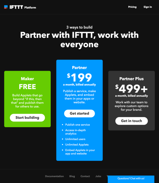 IFTTT now lets any developer build and publish applets for