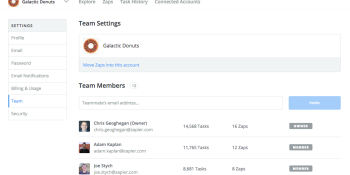 Zapier's team service brings task automation to the enterprise