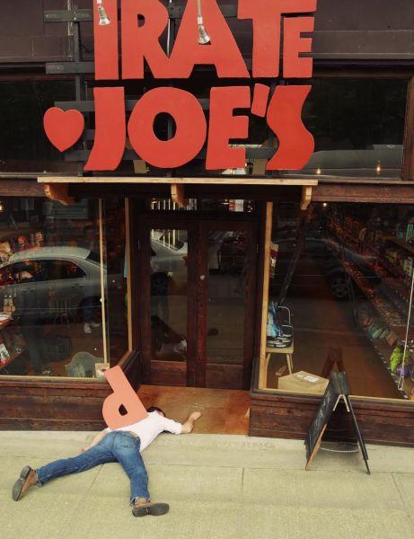 Comedic image of Pirate Joe's