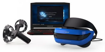 Microsoft unveils Windows Mixed Reality motion controllers, Acer promises VR bundle for $399 'this holiday'