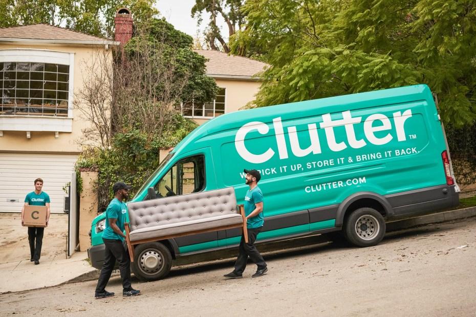 Clutter moving van