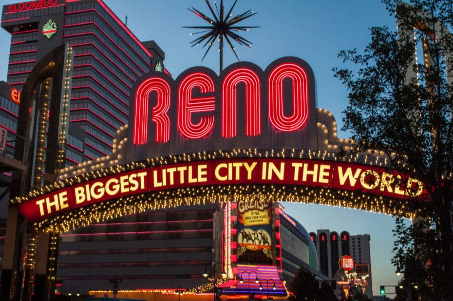 This is a picture of the famous sign in Reno, Nevada, a city whose nickname is