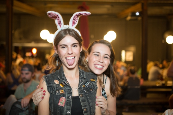 Members of the Everfest team. From left to right: Laura Mason, managing editor and Alexa Saltzman, festival research team lead.