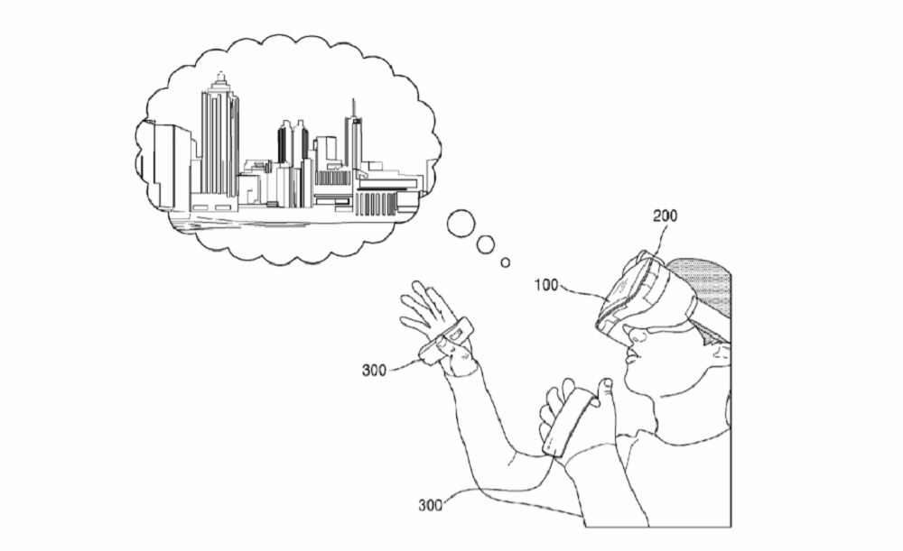 Samsung field patent for magnetic controllers for VR