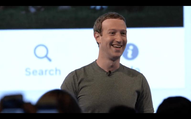 Mark Zuckerberg onstage at the Facebook Communities Summit on June 22, 2017.