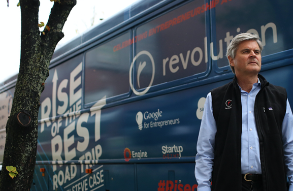 This photo shows Steve Case's Rise of the Rest is a nationwide effort to work closely with entrepreneurs in emerging startup ecosystems.