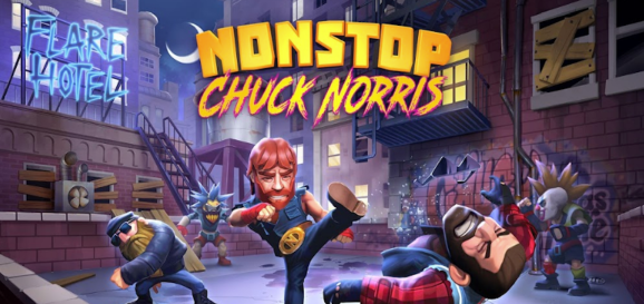 This image shows the Nonstop Chuck Norris bot which is available on Kik.