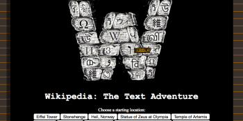 Indie dev turns Wikipedia into a text adventure game