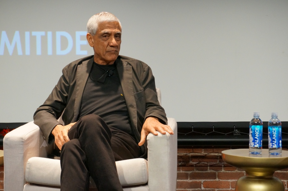 A picture of Vinod Khosla on stage