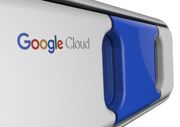 Google Cloud Transfer Appliance Faceplate (blue).