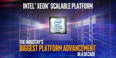 Intel Xeon Scalable processors are 1 65X faster than