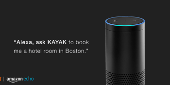 Alexa, book me a hotel room with Kayak