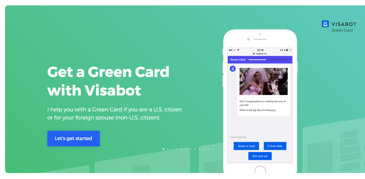 online dating green card