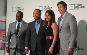 This photos shows a A recent event at TechSquare Labs in Atlanta, Georgia.
