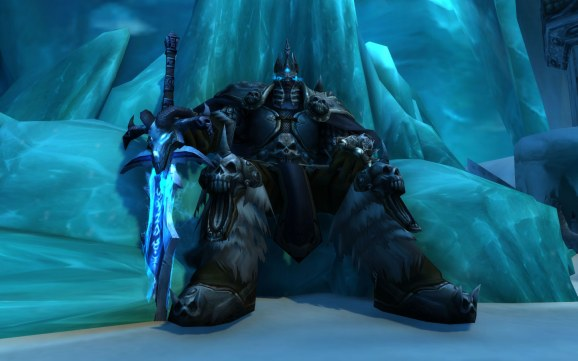 Above Arthas The Lich King On His Frozen Throne