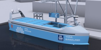 A $25 million autonomous ship will launch in 2018