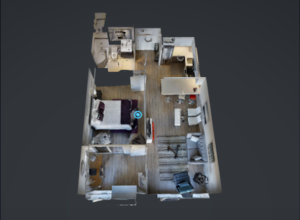 A three-dimensional floorplan for VR, from TorontoRentals