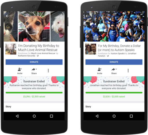 Facebook Unveils New Birthday Fundraiser Feature