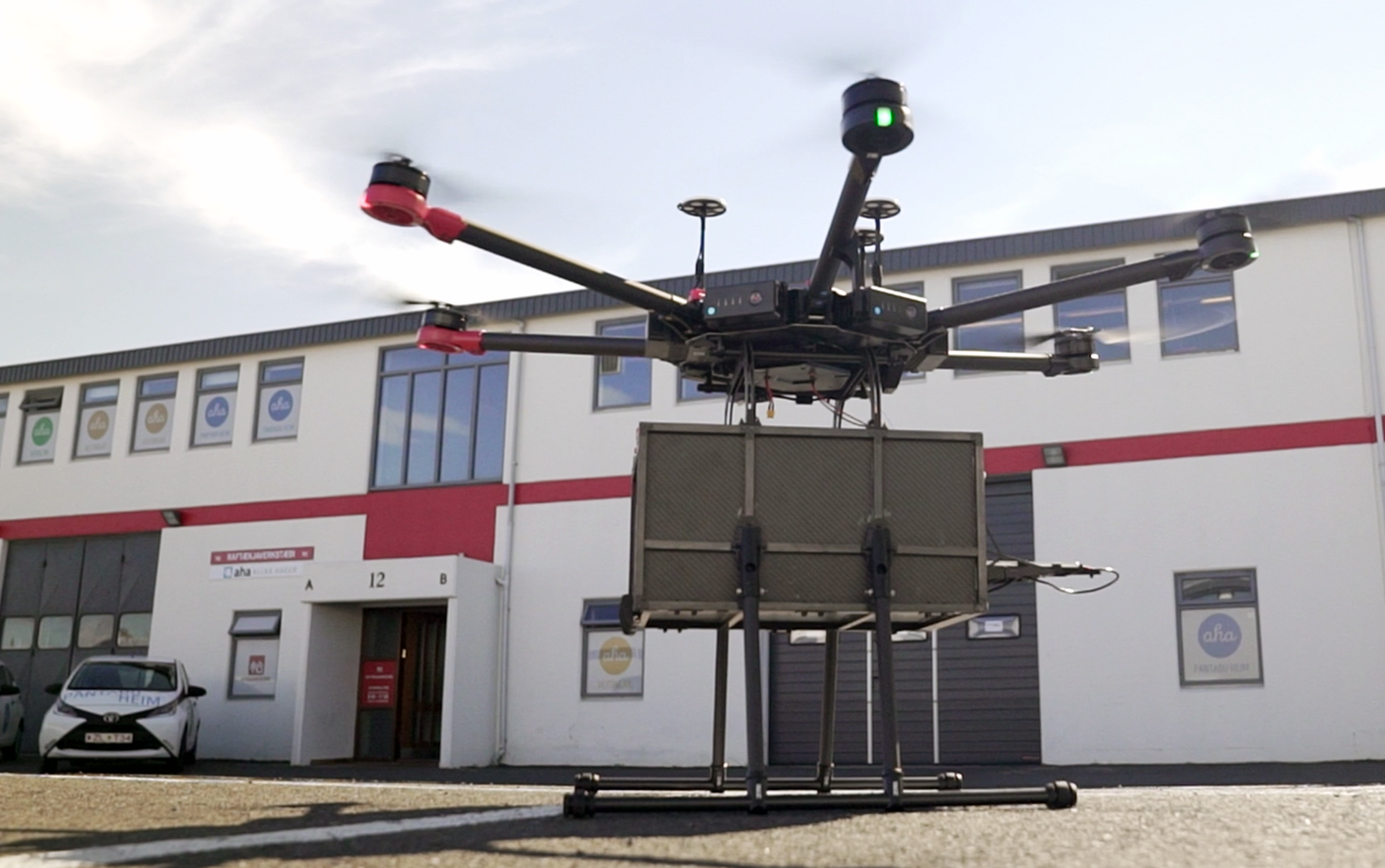 Urban delivery drones take to the skies in Iceland