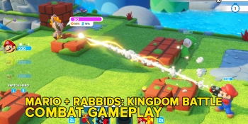 Mario + Rabbids: Kingdom Battle gameplay: Mike helps Jeff with his Rabbids infestation