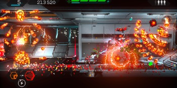 Matterfall review — a hectic and challenging take on side-scroller shooting