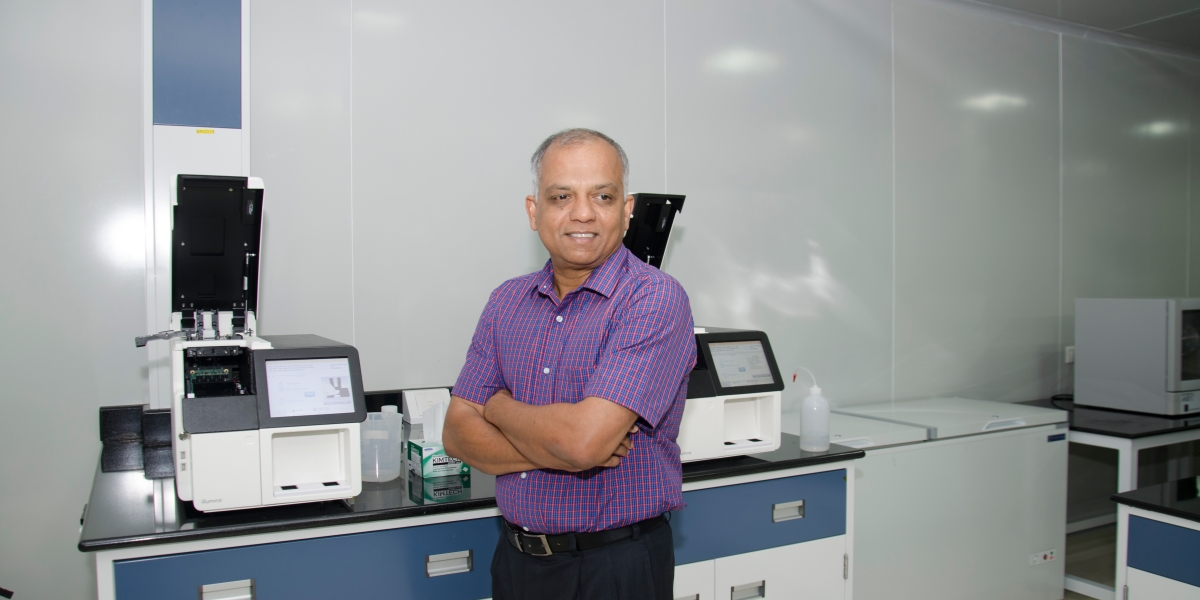 MedGenome founder and CEO Sam Santhosh