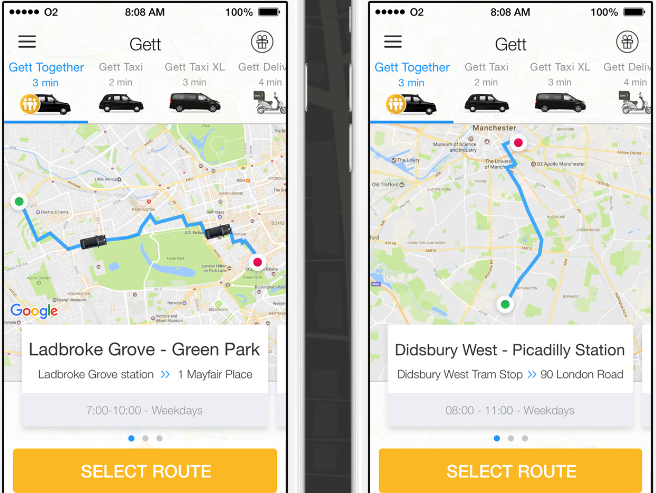 Gett and Citymapper to launch new taxi-bus for London commuters