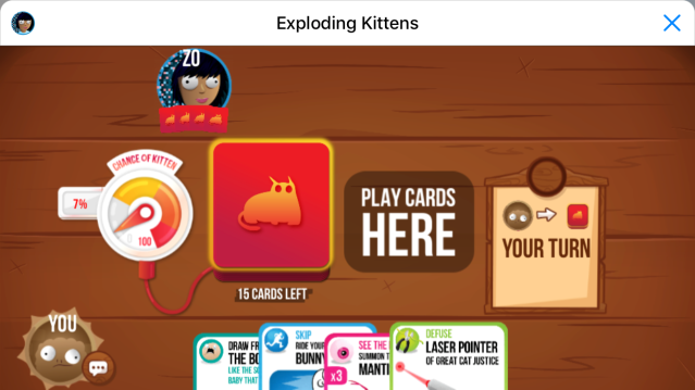 photo image Microsoft's Zo bot wants to play Exploding Kittens with you