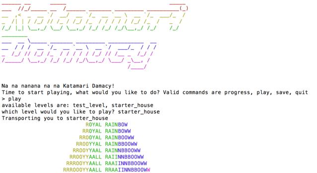 photo image Why someone would turn classics like Katamari into text games