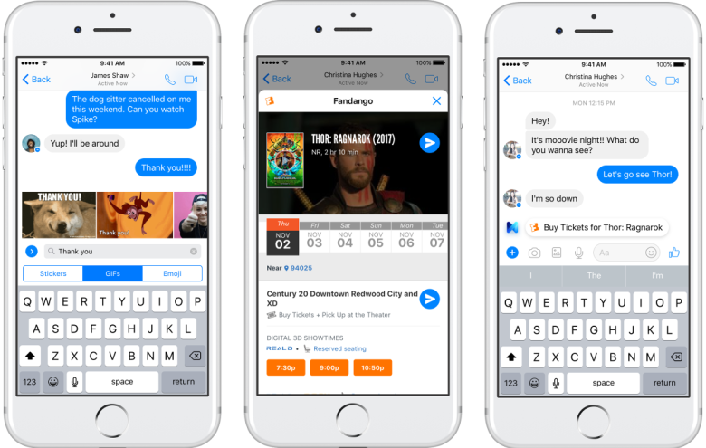 Facebook's M now shares GIFs and movie ticket ...
