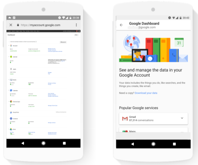 Google Dashboard gets redesign and new focus for users