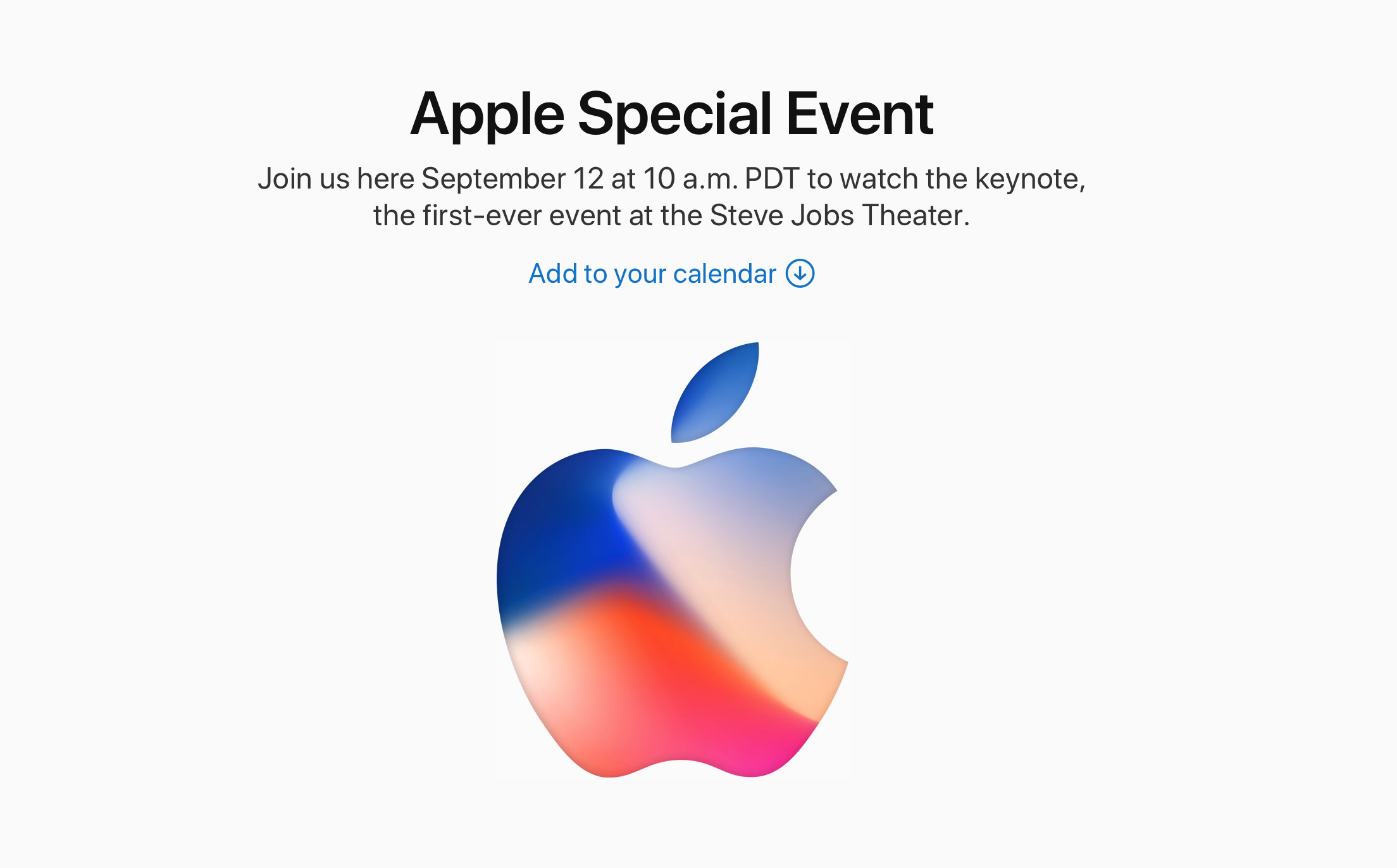 Apple iPhone X and iPhone 8 Live Event