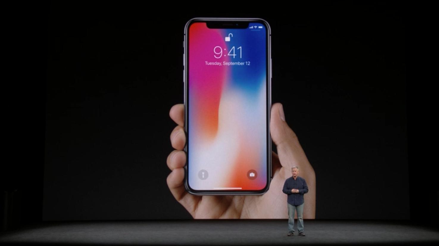 Above Apple's iPhone X