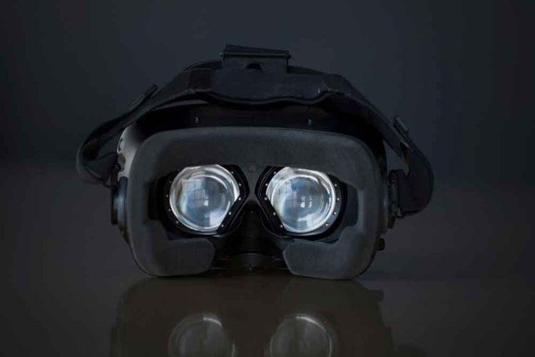 An eye-tracking headset.